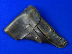 German Germany Ww2 Walther P38 Pistol Black Leather Holster