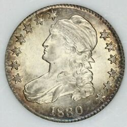 1830 Capped Bust Half Dollar Pci Ms Unc Uncirculated Beautiful Flashy Coin