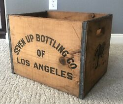 7 Up Seven Up Wood Crate Vintage Large Wooden Crate