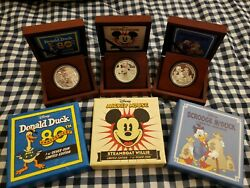 2014-2015 Disney Silver Coin Mickey Mouse, Donald Duck And Scrooge Mcduck
