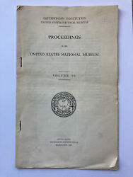 Proceedings Of The United States National Museum Vol 96. Book Of Contents