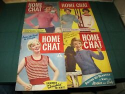 Home Chat Magazine 4 Issues - 3307,3308,3309,3310 August 1958 Vintage Sewing