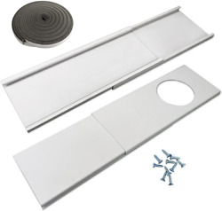Jeacent Window Seal Plates Kit For Portable Air Conditioners Plastic Ac Vent -