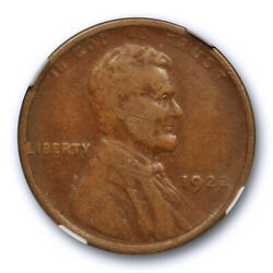1922 No D 1c Lincoln Wheat Cent Ngc Vf 25 Very Fine To Extra Fine Key Variety...