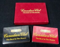 Vintage Canadian Club Whiskey The Best In The House Sealed Playing Cards 2 Decks