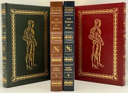 Asimov Easton Press I Robot Naked Sun Robots Of Dawn Caves Of Steel Leather Book