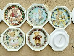 Set/lot Of 5 - Franklin Mint Collectible Plate Carol Lawson Teddy Bears Limited
