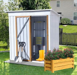 5ft X 3ft Outdoor Metal Shed Storage Shed Galvanized Sheds With Lockable Doors