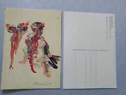 Vintage Hummel Postcard 870 Watercolor Madchen In Tract Ii