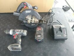 Porter Cable - Cordless Power Tool Set - Circular Saw, Drill, Charger And Battery