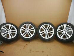 05-11 Mercedes W209 Clk350 Clk500 Wheels Rims And Sumitomo Tires Set - Staggered