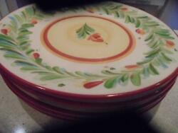 5 Southern Living At Home Gail Pittman Siena Dinner Plates Excellent Condition