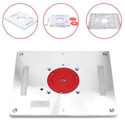 Aluminum Router Table Insert Plate Board Kit For Woodworking Benches Trimmer