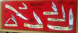1980s Schrade + Scrimshaw Usa Great American Outdoor Knife Display - Near Mint