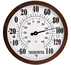 12″ Indoor Outdoor Weather Thermometer, Garden Wall Thermometer For Patio