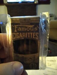 1933 Famous Cigarettes Black Licorice With 4 Candyand039s Still In The Box. Very Rare