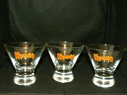 Lot Of 3 Vintage 90and039s Kahlua 4 Funnel Tapered Drink Glass The Everyday Exotic