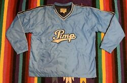 Vtg Pimp Embroidered Steve And Barryandrsquos Pullover Windbreaker Baby Blue Xxl Street