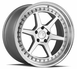 19x9.5 Aodhan Ds09 5x114.3 +15 Flow Forged Machined Silver Rims Set Of 4