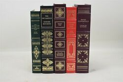 The Franklin Library Classical Hardcover Leather Bound Gold Leafing Lot Of 5