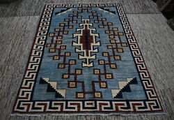 5and0393 X 8 Ft Handmade Afghan Tribal High Quality Best Oushak Unique Wool Area Rug