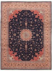Vintage Hand-knotted Carpet 9and0391 X 12and0394 Traditional Oriental Wool Area Rug