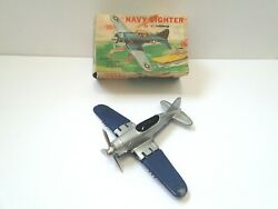 Vintage Navy Fighter Fighter Airplane By Hubley 1467 Please Read Description