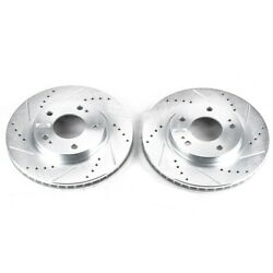 Jbr966xpr Powerstop Brake Discs 2-wheel Set Front New Coupe For Eclipse Sebring