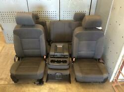 2014-2018 Chevrolet Silverado 1500 Front And Rear Seat Set Double Cab Oem 2017