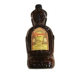 Kahlua Brown Glass Tiki Bottle Empty With Screw Top Appx 11 Tall 980ml