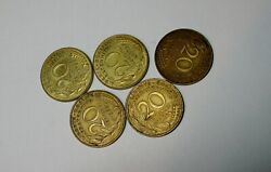 Five 5     1963 To 1978 France 20 Centimes Coin Francais     Five 5