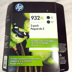 New Hp Genuine 932xl Black Ink 2-pack Past Date Expired 2019 Printer Officejet