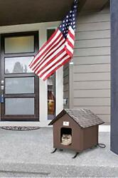 Heated Cat Houses for Indoor and Outdoor Waterproof and Insulated Chocolate