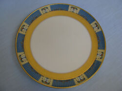 Lenox Tremont Footed Sandwich Plate Cake Dish Canape Tray Ivory Blue W Gold Band