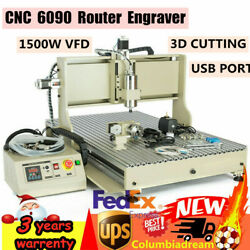Usb 4 Axis 6090gz Engraver Cnc Router 3d Metal Engraving Milling Machine 1500w