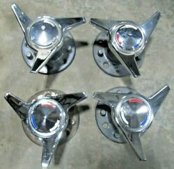 1963-66 Corvette C2 Mid Year Knock Off Wheel Hubs + Spinners + Caps Set Of 4