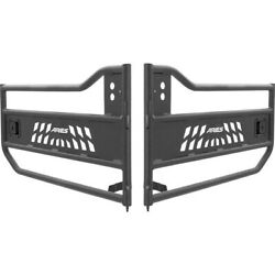 Set-ars25009 Aries Rock Doors Set Of 2 Front And Rear New For Jeep Wrangler Pair