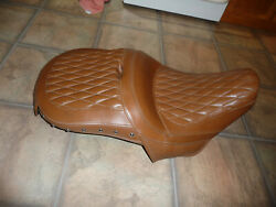 Indian Roadmaster Tan Heated Touring Seat Oem New Style Fits All 111 116 And03914-21
