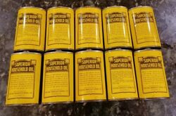 Vintage Lot Of 10 Superior Household Oil Cans Oiler 3 Oz No Tops Great Condition