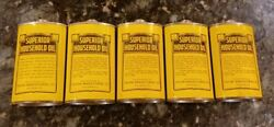 Vintage Lot Of 5 Superior Household Oil Cans Oiler 3 Oz No Tops Great Condition
