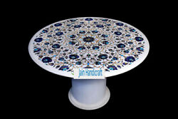30 White Marble Table Top Center Coffee Dining Inlay Pietra Dura With Stand Edh