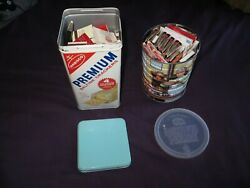 100+ Old Matchbooks From Chicago, Vegas, Hawaii And More + 2 Metal Cans And Lids Old