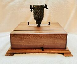 Antique Christmas Tree Stand With Music Box - Rotates With Music