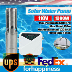 4 Solar Water Pump Farm Ranch Submersible Bore Hole Deep Well Dc 5,000l/h Andmppt