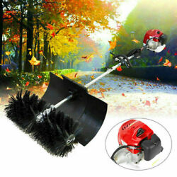 52cc Gas Power Hand Held Walk Behind Tractor Sweeper Broom Driveway Cleaning