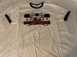 Aew Authentic Cm Punk Best In The World Ringer T-shirt Size Large