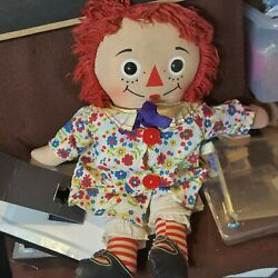 Raggedy Anne Doll 20- Floral Dress Shoes + Old Lace Up Under Garments