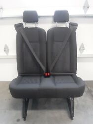 Rare Ford Transit Oem Seat Charcoal Cloth 31 Last 5th Row Center Seat