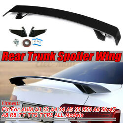 Rear Trunk Spoiler Wing Gloss Black For Audi A3 S3 A4 S4 A5 S5 Rs5 A6 S6 A7 Tt