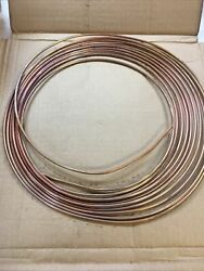 Lot Of 5 Parker Seamless Annealed Copper Tube 25andrsquo Coil 1/8andrdquo O.d.x.030.